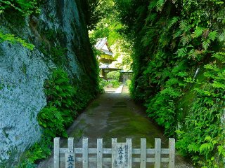 This narrow path was drilled through the rock in 1717