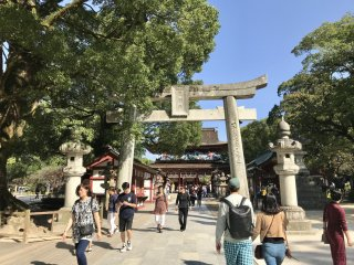 The shrine is a very popular tourist spot