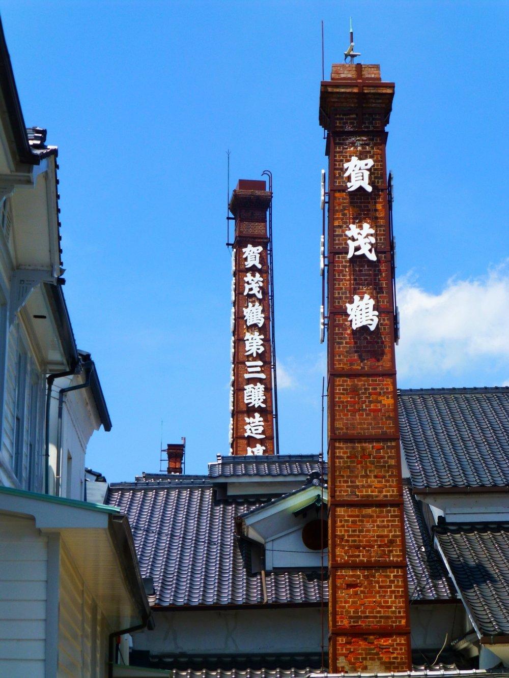 Terdapat 18 buah cerobong asap di Saijo - 15 diantaranya terbuat dari batu bata, 2 dari semen dan 1 nya sedikit rusak