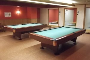 Pool tables to play on