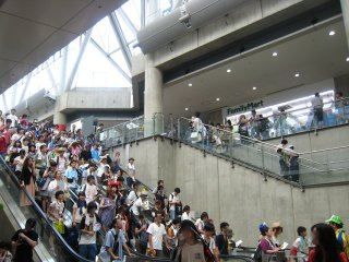 This was the scene on Day 1, 11am in the East Hall.