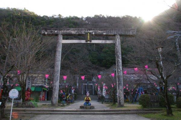 Entrance to the Momotaro Jinja