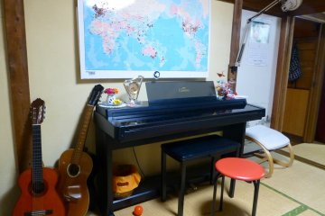 Feeling musical? Pick up a guitar, or perch yourself at the piano and go right ahead!