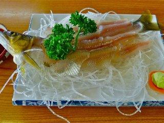 Sashimi de ayu