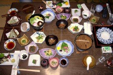 Meal at the Ryokan