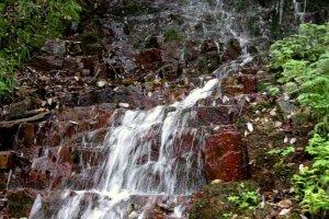 Những thác nước nhỏ dọc theo đường mòn