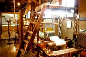 The real weaving machine they use for actual textiles
