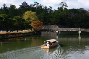 The Horikawa Sightseeing Boat travels around the castle moats