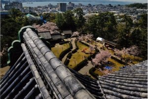 View from the top floor of Matsue Castle