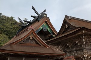 The iconic roof of Izumo Grand Shrine