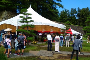 Tea ceremony events are regularly held in the castle grounds