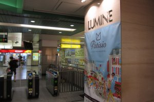 Lumine at the doorstep of the JR Gantry