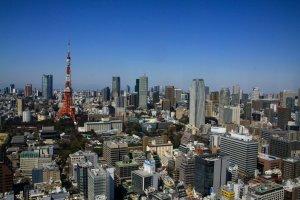 Looking towards Shinjuku and Tokyo midtown
