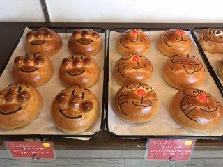 Anpanman and Doraemon custard filled breads