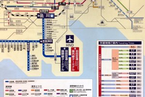 Traveling times and subway map
