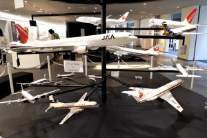 Some of the model planes on view before the tour