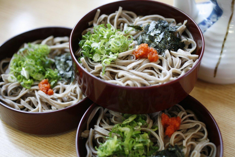 Les Izumo sobas, nouilles de farine complète de sarrasin, plat traditionnel de la région de Matsue.