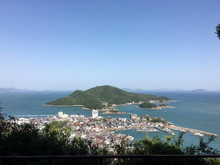 Blick über die Tomonoura Bucht Ghibli