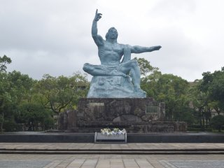 The iconic statue at the Nagasaki Peace Park