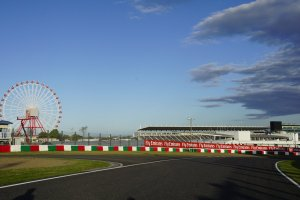 One of Suzuka Circuit corners with its phenomenal ferris wheel