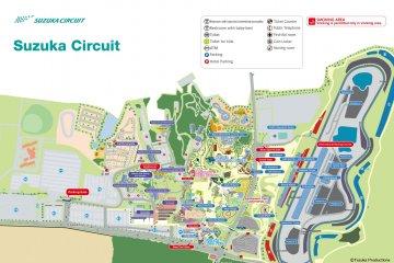 Map of Suzuka Circuit complex (source: https://www.suzukacircuit.jp/en/)