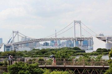 <p>The beautiful view of the port near Fuji TV</p>