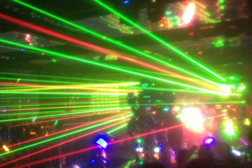 No robot show would be complete without lasers.