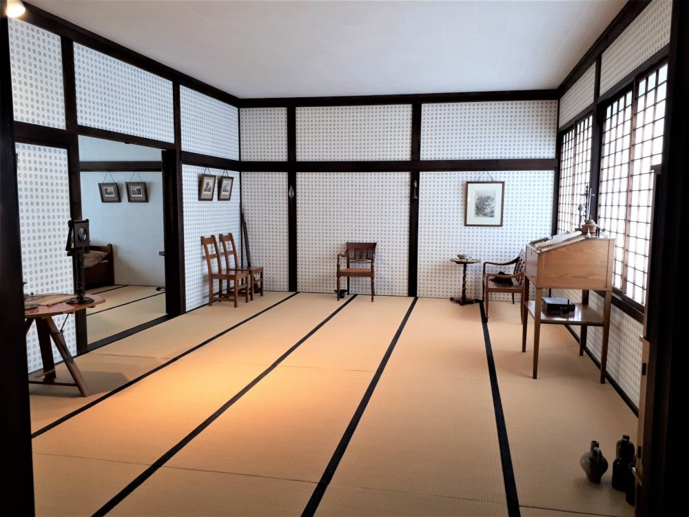 Another room in the Chief Factor's residence building. An interesting, if only practical, blend of Japanese and European.