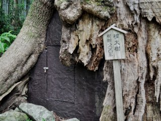 The Kumano area is considered to be sacred. Small shrines and other objects of worship can be found along the path towards the waterfall