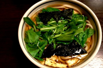 Delicious Natural Soba Noodles with Kyoto Vegetables just minutes from the Shinkansen exit at Kyoto Station