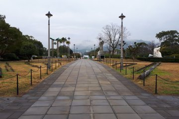Pathway leading into the park