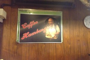 The gone but not forgotten owner and founder of the restaruant still watches over the restaurant. Making sure each guest leaves with a smile and full stomach.