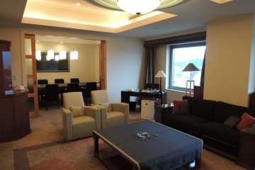 Presidential Suite living room and dining room