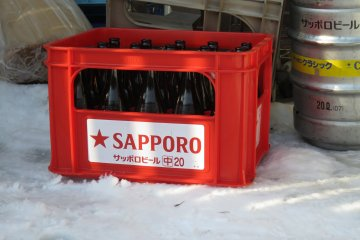 Nothing beats a Sapporo after a big day on the snow