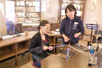 Staff will assist in helping to create the marble itself