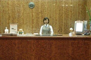 The wonderful staff by the hotel lobby