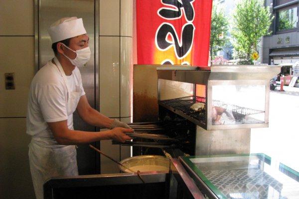 Taiyaki cooking process