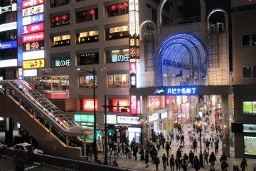 Улица Хиросэдори в Сендае
