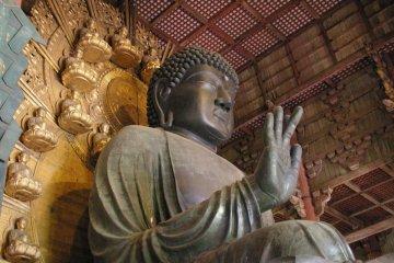 The bronze Buddha statue