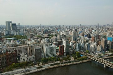 View of Tokyo from the Asahi HQ