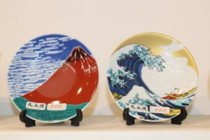 Сувенирные тарелки с рисунками Хокусая