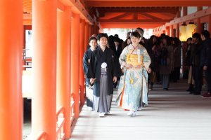 Wedding at Itsukushima Shrine in Miyajima