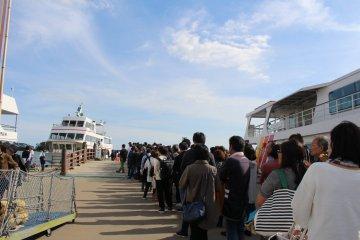 The line at Matsushima-Kaigan...