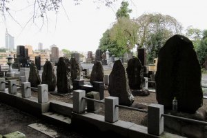 A cemetery in Sendai