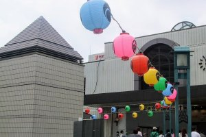 Festival Lanterns at Kawagoe Station