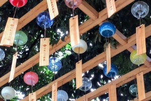 Wind chimes at Hikawa Shrine