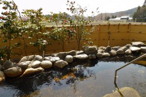 Yumoto Azamakan's outdoor onsen bath