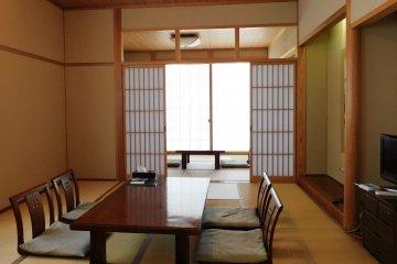 A Japanese-style room at Yume-no-yu