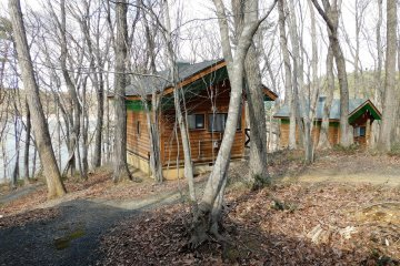 A cabin in Senganishi Forest Park