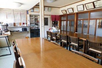The dining area in Minshuku Sato